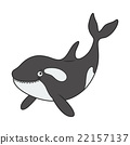 Cartoon killer whale 22157137
