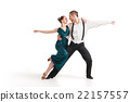 professional artists dancing over white 22157557