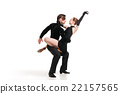 professional artists dancing over white 22157565