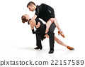 professional artists dancing over white 22157589