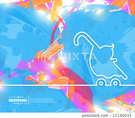 Creative vector stroller. Art illustration 22160035
