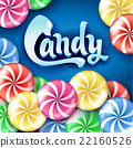 Sweet lollipop candy colorful background. 22160526