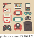 retro game player set 22167471