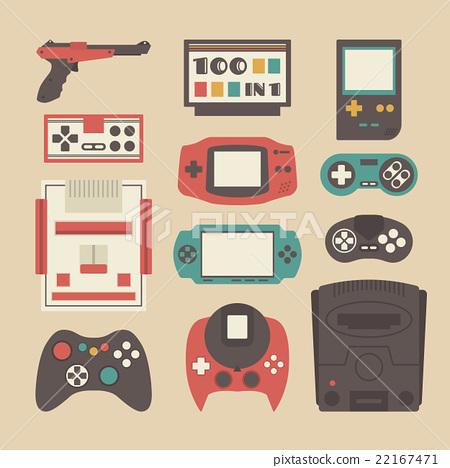 retro game player set 22167471