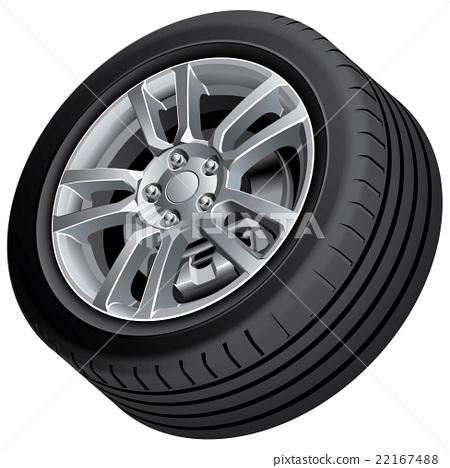Vehicular wheel isolated 22167488
