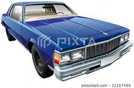 Vintage American hardtop coupe 22167489