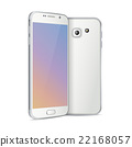 white smartphone face and back 22168057