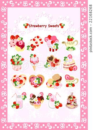 矢量 烤餅 冰淇淋 22168268