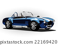 classic sport car cobra roadster blue 22169420