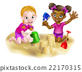Tropical Beach Children Vacation 22170315