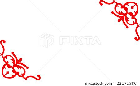 傳統吉祥花紋邊框 22171586