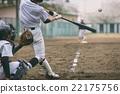 棒球 擊球 捕手 22175756