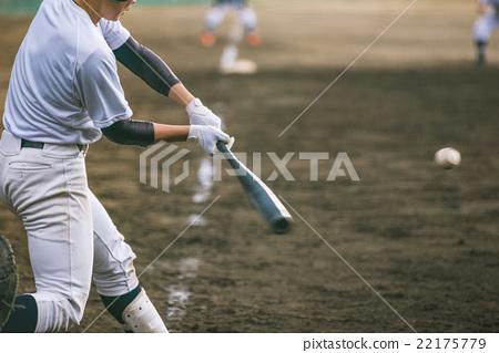 High school baseball game landscape 22175779