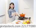 女性烹饪 22177080