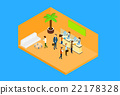 Business People In Office Hall Woman Reception 22178328