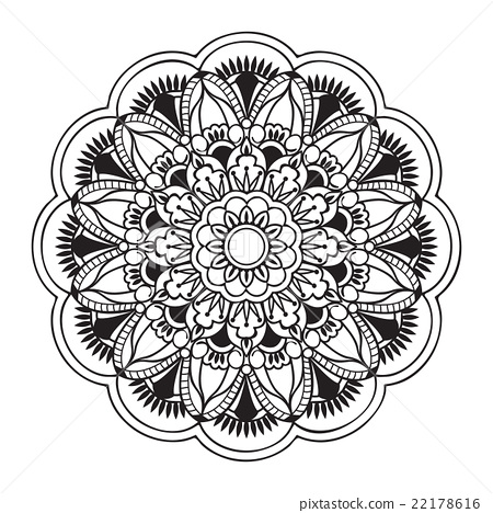 mandala with hand drawn elements 22178616