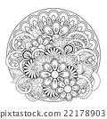 floral decoration drawing 22178903