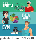 Healthy lifestyle design , vector illustration 22179883