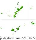 okinawa prefecture map, okinawa prefecture, map 22181677