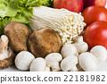 蔬菜 青菜 金针菇 22181982
