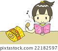 減肥 插畫 薯片 22182597