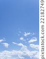 藍天天空雲彩春天天空背景材料4月 22182749