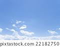 藍天天空雲彩春天天空背景材料4月 22182750
