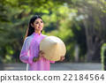 Portrait of Vietnamese girl traditional dress 22184564