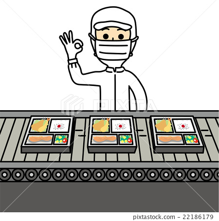 A person working at a food factory - Stock Illustration [22186179 ...