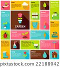 Flat Vector Icon Infographic Garden Nature Concept 22188042