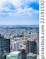 东京蓝天和都市风景 22191592