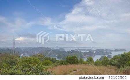 Panoramic view of sea bay 22192502