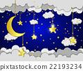 moon, vector, cloud 22193234
