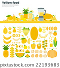 Yellow healthy food on the table 22193683