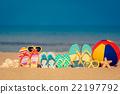 summer, vacation, flip-flops 22197792