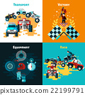 Offroad Concept Icons Set  22199791