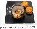中国茶 月饼 甜食 22202796