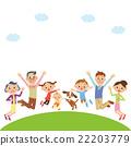 跳 父母和小孩 親子 22203779