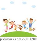 跳 父母和小孩 親子 22203780