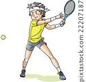 矢量 网球选手 网球 22207187