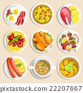 一组 一套 食物 22207667