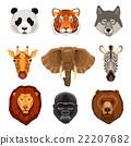 Cartoon Animals Portraits Set 22207682