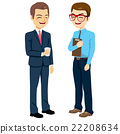 Businessmen Talking Standing 22208634