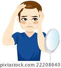 Male Worried Hair Loss 22208640