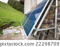 Solar panels on apline hut 22208709