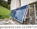 Solar panels on apline hut 22208710