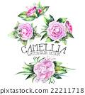 Watercolor camellia vignettes 22211718