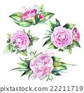 Watercolor camellia vignettes 22211719