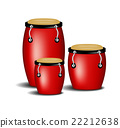 Congas band in red design with shadow  22212638