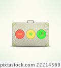 Ready to go travel case. Traveling design element 22214569